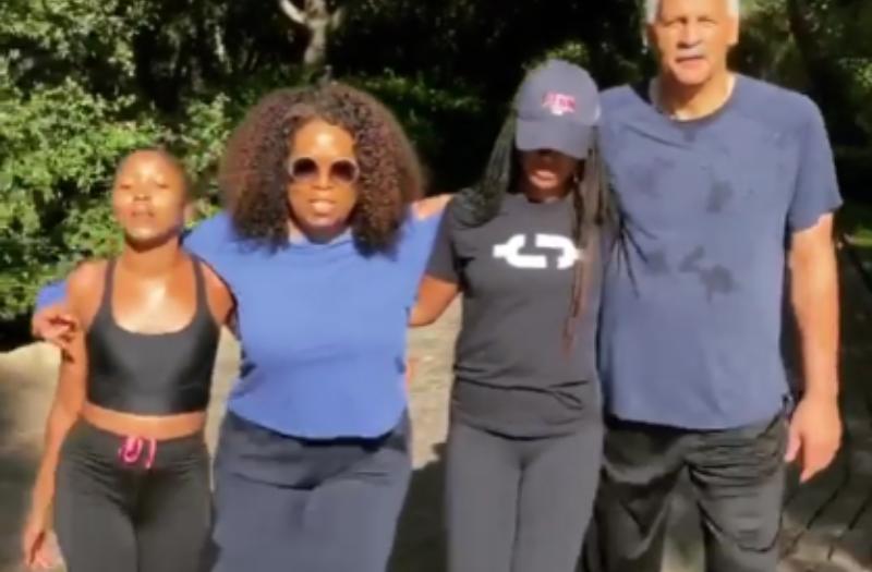 Oprah Walks 2.23 Miles For Ahmaud Arbery On His 26th Birthday ...